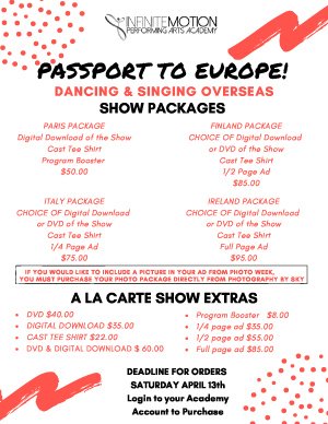 RECITAL SHOW PACKAGES